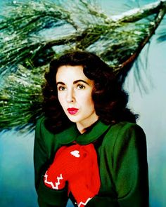 Elizabeth Taylor, 1948. I just realized that my daughter-in-law, Elizabeth, looks a lot like Elizabeth Taylor did at the same age!!
