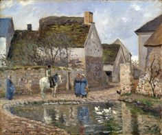 Pissarro.Camille.jpg (3000×2511)Camille Pissarro (1830–1903) Link back to Creator infobox template wikidata:Q134741 Title The Pond at Ennery wikidata:Q21588906 Date 1874 Medium oil on canvas Dimensions Framed : Height: 80.6 cm (31.7 in). Width: 91.4 cm (36 in). - Unframed : 53.1 × 64.2 cm (20.9 × 25.3 in) Current location (Inventory)Yale University Art Gallery Link back to Institution infobox template wikidata:Q1568434