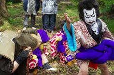 08 Akita Hachirogata town Child Gannin Dance 2015 2015年5月5日 八郎潟町 一日市神社 子供願人踊り