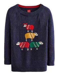 CHRISSIESHP Womens Christmas Sheep Jumper