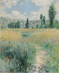 "Claude Monet, ""Path on the Island of Saint Martin, Vétheuil,"" 1881."