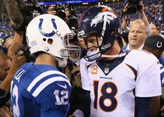Peyton Manning, Andrew Luck First Time Meeting - Denver Broncos at Indianapolis Colts, Colts Won
