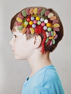 The mind, explained in lollies by Jan von Holleben @Herald Sun  - Helping kids understand how the brain works.