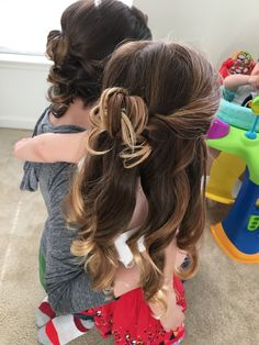 Flower girl hairstyles bridal party wedding hair by jo479 Jo hair stylin on FB
