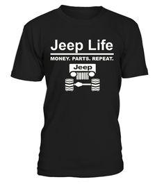 JEEP LIFE MONEY PARTS REPEAT T-SHIRTS