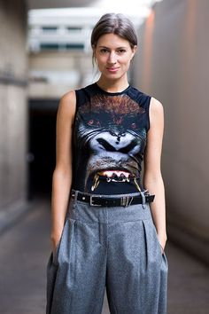 Sarah Harris in THAT Christopher Kane T-shirt