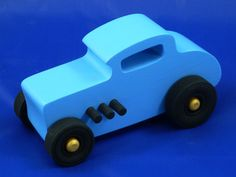 32 Deuce Coupe Toy Car Hot Rod Classic 1932 by OdinsToyFactory Wooden Toy Garage, Tallahassee Florida, Handmade Wooden Toys, Black Pipe, Blue Bodies, Kids Vehicles, Creative Play, Wood Toys, Toys For Girls