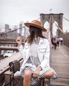 Lisa Germaneau x Reiko Lisa, Studded Jacket, Panama Hat, Studs, Photos, Hipster, Instagram, Jackets, How To Wear