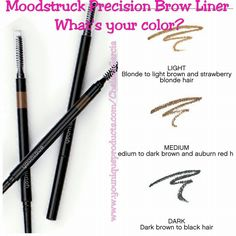 How many of you are excited that Younique will finally be offering Brow products?! I know I am for sure! Here's a little preview of the colors that will be available come September 1st, Light, Medium, and Dark (something for everyone, of course!) I'll be rocking the light Precision Brow Liner, what will you be wearing? Contact me if you need help choosing your shade, I'll be happy to answer any questions!
