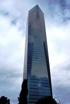 """Torre de Cristal"" in Madrid Spain (249m)"