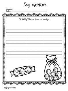 """""""SOY ESCRITOR/RA"""" TRABAJAMOS LA ESXPRESIÓN ESCRITA Y LA ESCRITURA CREATIVA DE PROFE MIRICLETA -Orientacion Andujar Spanish Teaching Resources, Willy Wonka, Reading Workshop, Middle School, Worksheets, How To Plan, Education, Writing Ideas, Ariel"""