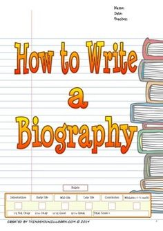 "A step by step, scaffolded approach to teaching your students how to write a five-paragraph biographical essay. There is a writing model from which students complete a graphic organizer to guide them in deconstructing the model essay. This process helps students to intuit the structure of a biography.There are graphic organizers for research, introduction and conclusion.There is an editing symbol guide and a ""works cited"" guide.It draws special attention to a six-step writing process…"