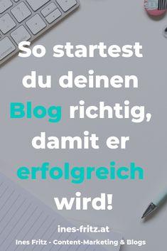 Willst du dir einen profitablen Blog aufbauen? Gehe diese Schritte! E-mail Marketing, Content Marketing, Affiliate Marketing, Online Marketing, Facebook Website, Business Inspiration, Pinterest Marketing, Wordpress, Web Design