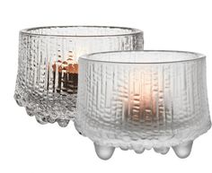 Flickering candlelight will be even more enchanting behind the matte frosted glass of this votive. In modern literature, Ultima Thule is used to reference the furthest possible place in the world. Tapio Wirkkala's 1968 Ultima Thule glassware similarly Candles, Tea Lights, Candle Holders, Tealight Candle Holders, Glass Design, Nordic Design, Glass Candlesticks, Mouth Blown Glass, Glass Candle