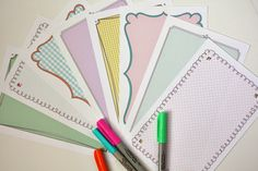 Free Printable Stationery Sheets....with happy patterns and doodle borders, of course!