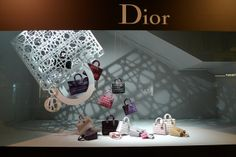 Vitrines Dior au Bon Marché - Paris, octobre 2010 www.instorevoyage.com   #in-store marketing #visual merchandising
