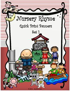 These adorable pennants/banners will spice up your Nursery Rhyme's unit for your young elementary students.  This set can be used in both the regular classroom as well as any special area classroom such as music, art, SPED, reading recovery, etc.  Simply print on sturdy card-stock or tag-board, laminate, and create a bulletin board or a creative banner/pennant.