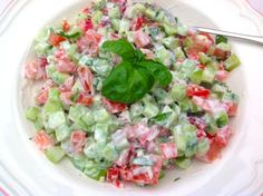 Frisse zomersalade met een frisse dressing