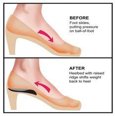 Heeluxe High Heel Inserts, Pair :: Heel Cushions :: Shop now with FootSmart