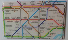 Angleterre - Londres : Plan du métro, vacances août 2013