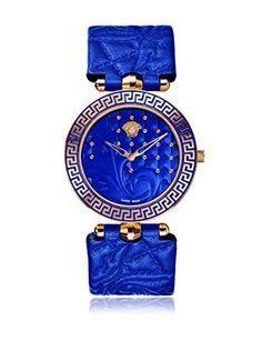 Versace Reloj con movimiento cuarzo suizo Vanitas VK7040013 Azul 40,00 mm