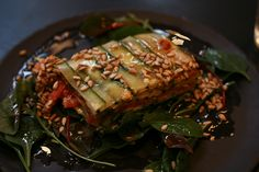 Raw Lasagna with Zucchini and Three Sauces