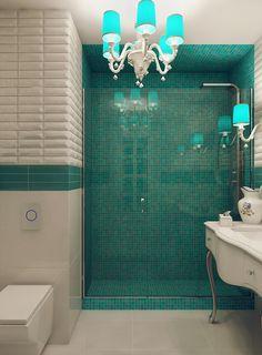 Ванная комната. Дизайн интерьера однокомнатной квартиры для молодой девушки в ЖК «Аврора», 38 кв.м.