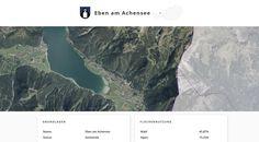 Screenshot der Gemeinde Eben am Achensee, Tirol, auf Similio, dem mehrsprachigen Geographie- & Informationsportal über Österreich. Geographie, Wirtschaftskunde, Statistik Innsbruck, Statistics, Communities Unit, Alps, Things To Do, Pictures