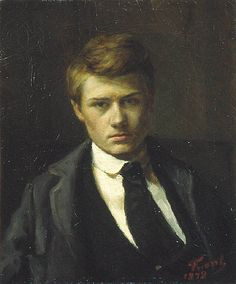 This is Emile Friant in a self portrait. Whaddayaknow--I talked about Emile Friant about a dozen times a week when I was a Clayton Docent and did'nt have a face to put with the name. John William Godward, Beauty In Art, Male Beauty, L'art Du Portrait, Dante Gabriel Rossetti, Art Graphique, High Society, Gustav Klimt, French Artists