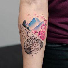 Résultats de recherche d'images pour «mountain tattoo watercolor»