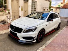 Mercedes A45 Amg, Mercedes Car, Classe A Amg, Car Iphone Wallpaper, Benz A Class, Lux Cars, High Performance Cars, Motorcycle Design, Car Tuning