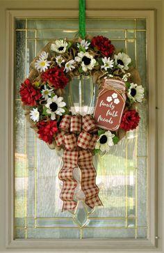 Farmhouse Wreath for Front Door, Front Door Wreath, Everyday Floral Wreath, Mantle Wreath,  Kitchen Wreath, Patio Wreath, Housewarming Gift Wreaths For Front Door, Door Wreaths, Grapevine Wreath, Wreaths For Sale, Diy Wreath, Burlap Wreath, Autumn Wreaths, Easter Wreaths, Wire Wreath Frame