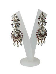 Bollywood Fashion Maroon American Diamond Stone Polki Dangler Earrings 'Tarini Jewels' Mogul Interior,http://www.amazon.com/dp/B00FOHM05M/ref=cm_sw_r_pi_dp_uDTusb1C0J8HSHQZ