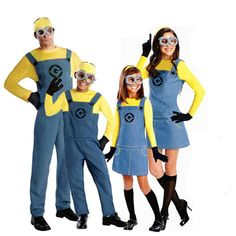 Christmas Day Minions Costume Coslay Anime Mini Costumes Suits Boys Girls Kids New Year Halloween Party Parent-child Clothes