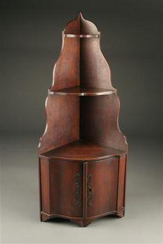 19th Century French corner cupboard in walnut, circa 1850. #antique #cupboards