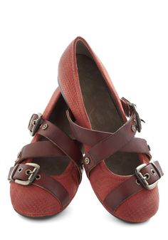 Strappy Hour Flat in Red, $99.99 #ModCloth