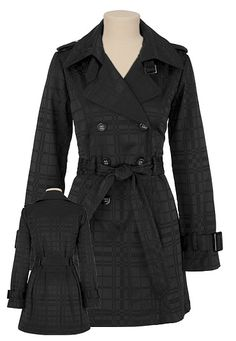 want: burberry trench Cute Dresses, Cute Outfits, Cute Coats, Burberry Trench, Plaid Coat, Black Plaid, Plus Size, Style Inspiration, Fashion Outfits
