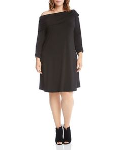 Karen Kane Plus Foldover Neck Dress
