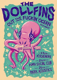 I was asked by The Dollfins to create a poster for their national tour - Out the…