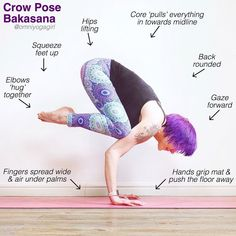 Some tips and tricks for crowpose, bakasana. . Follow @yogalooksgood for more 💛 . credi