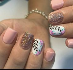 Pretty Nails, Style Nails, Beauty, Finger Nails, Polish Nails, Short Nail Manicure, Nail Manicure, Copper Wire Art, Tutorials