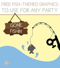 Fishing Party Graphics Click through to find matching games favors thank you cards inserts decor and more. Or shop our 1000 designs for all of life's journeys. Weddings birthdays new babies anniversaries and more. Only at Aesthetic Journeys 16th Birthday, First Birthday Parties, Under The Sea Party, Fishing Quotes, Boy Quotes, Matching Games, Holidays And Events, Games For Kids, Party Themes