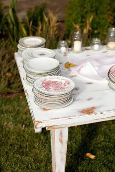 mismatched vintage plates from the @Goodwill Industries ®