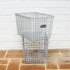 Vintage Gym Basket Vintage Wire and Metal Basket by timepassages, $28.00