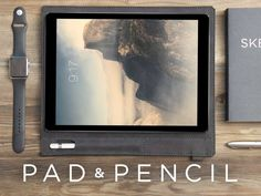 Elegantly carry your iPad Pro and Apple Pencil in this high-grade, oil-tanned leather sleeve.