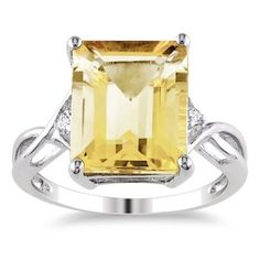 @Overstock - Citrine and white topaz ringSterling silver jewelryClick here for ring sizing guidehttp://www.overstock.com/Jewelry-Watches/Miadora-Sterling-Silver-Citrine-and-White-Topaz-Ring/4719357/product.html?CID=214117 $59.99