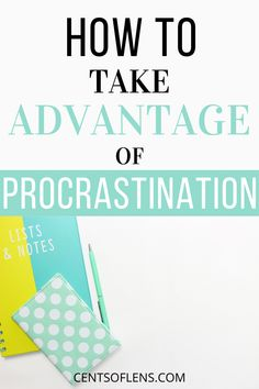 Do you struggle with productivity? Find out how you can take advantage of procrastination and get more done in less time today! #productivity #productivitytips #productivityhacks #procrastination #getstuffdone #procrastinationtips Becoming A Better You, How To Become, Career Inspiration, College Survival, Class Notes, Thing 1, Productivity Hacks, College Hacks, Study Notes