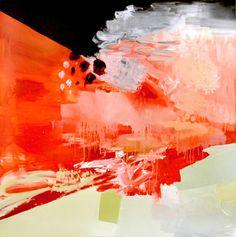 "Saatchi Online Artist Jackie Farkas; Painting, ""Red Erupt"" #art"