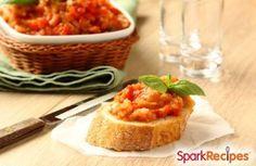 Easy Eggplant Bruschetta Recipe via @SparkPeople