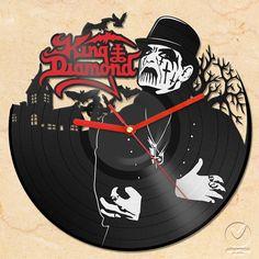inspiration....vinyl wall clock - King Diamond